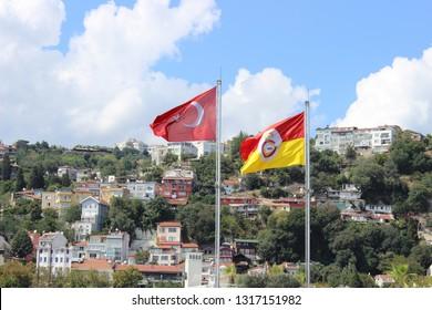 Galatasaray und türkische Flagge