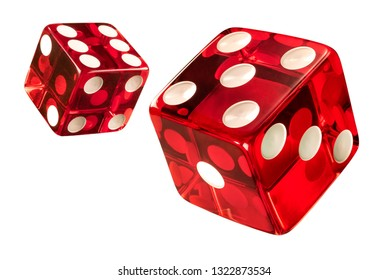 Red Casino dice (w/clipping path) High resolution of clean new dices