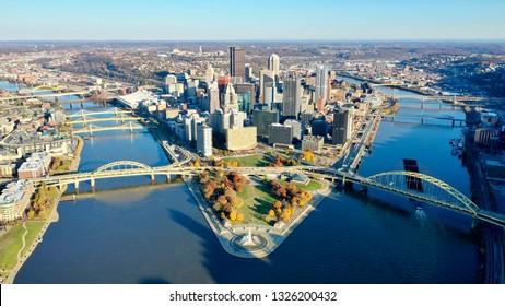 Pittsburgh skyline river
