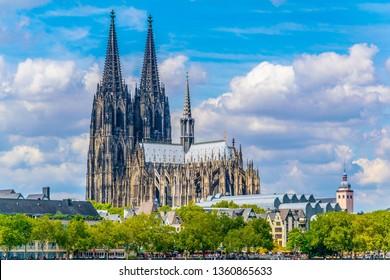 Detail des Doms in Köln, Deutschland