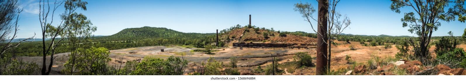 Fundición de cobre Chillagoe en el interior de Australia, hermoso paisaje en medio de la nada