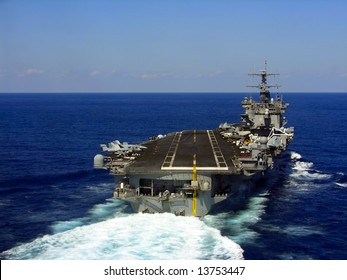 A striking image of a nuclear powered aircraft carrier