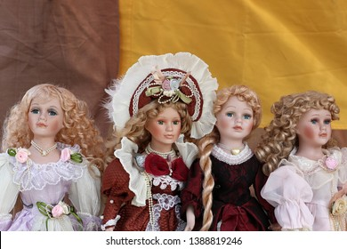 Beautiful antigue dolls for girl