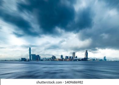 香港—車の背景