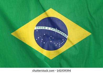 ブラジルの布旗