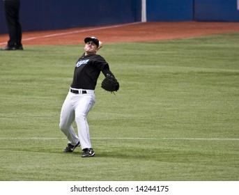 TORONTO - 14. JUNI: David Eckstein # 11 am Zwischenstopp während des Spiels Chicago Cubs gegen Toronto Blue Jays am Rogers Center 14. Juni 2008 in Toronto, Ontario. Chicago gewann 6-2.