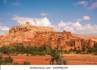 Ait Benhaddou, altes befestigtes Dorf in der Nähe von Ouarzazate, Marokko - UNESCO-Weltkulturerbe