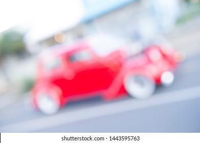 Red Hot Rod, auto, voertuig blured met lichte achtergrond