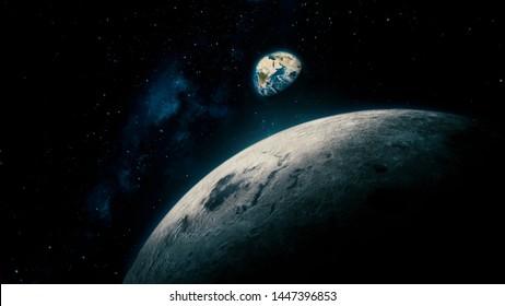 月から地球への宇宙観