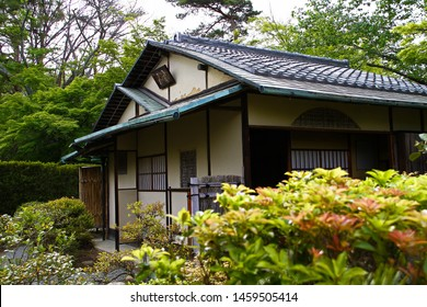 Japanese style old house,architecture.Landscape of old Japanese architecture and garden.old Japanese house that is a historical building.Meijimura, the sacred place of the anime kimetsu no yaiba.