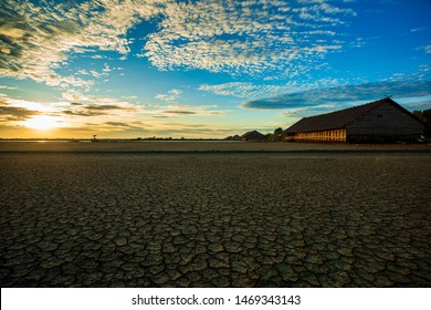 Drought earth in sunset. dramatic sky over desert. change climate ,Ukraine, Drought, Climate Chan'The Desert In Western India ge, Arid Climate, Dry