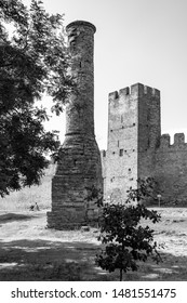 ancient minaret in Ackerman fortress built by Sultan Bayazid 2