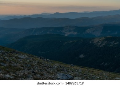 Vom Arapaho-Gletscher, Blick nach Süden bis zum Pikes Peak, links vom Zentrum kaum sichtbar.