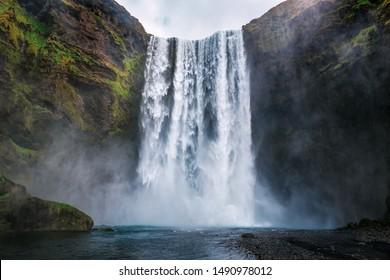 schöner Skogafoss Wasserfall in Island