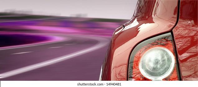 Nahaufnahmebild eines Autoscheinwerfers.