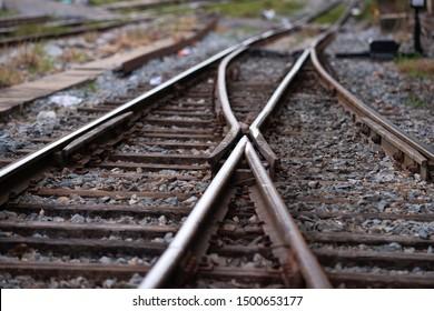 正面にジャンクションがある線路