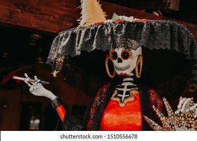 Día de Muertos, decoración de Catrina de México