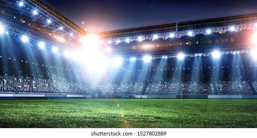 ライトのフルナイトサッカーアリーナ