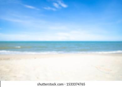 海は背景をぼかし。自然コンパクト背景。