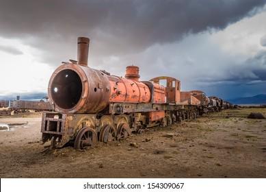 列車の墓場、ウユニ、ボリビア