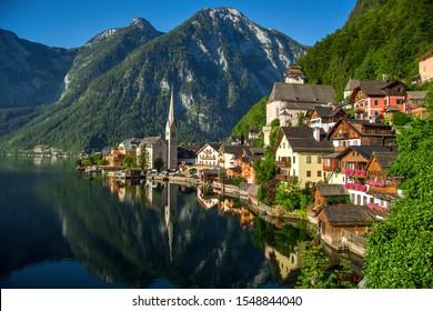 Beautiful view in Hallstatt, Austria