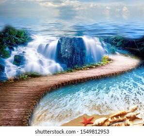 Cascada - Pavimento 3D - Pavimento epoxi