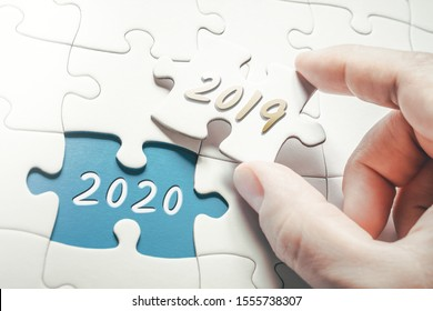 Die Jahre 2019 und 2020 in einem fehlenden Puzzle