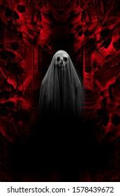 conceptual of horror , satan evil ghost