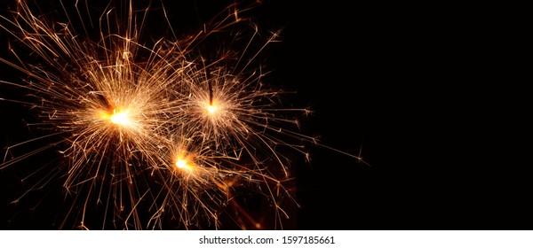 Bengal sparkler on a black background