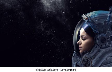 Den Weltraum erkunden. Gemischte Medien