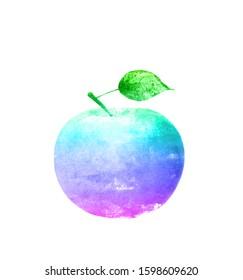 水彩アップルは、白い背景で隔離。デザイン用テンプレート