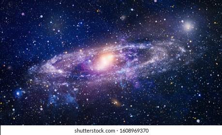 Planeten, Sterne und Galaxien im Weltraum zeigen die Schönheit der Weltraumforschung. Schöner Nebel, Sterne und Galaxien. Elemente dieses Bildes von der NASA eingerichtet.