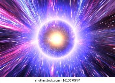 Gran anillo de luz en el centro del universo. Chapoteo. Big Bang. Los elementos de esta imagen proporcionada por la NASA.