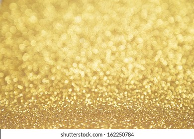 Twinkly golden Lights Christmas Background