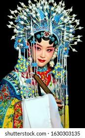 アジアの古代北京オペラパフォーマンスアーティスト