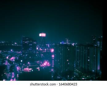 Cyberpunk Night Cityscape Jakarta 2077