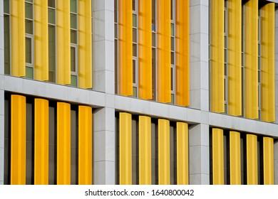 近代的な工業ビルの構造の詳細。