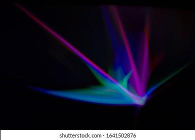 Mehrfarbige beleuchtete Strahlen Fractal Art