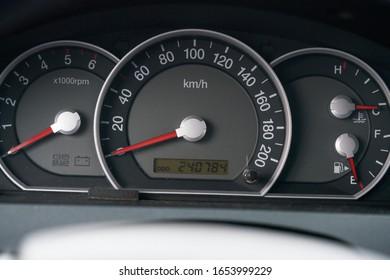車内ダッシュボードの詳細。Speedometr。