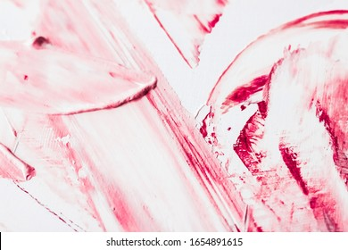 Kunst, Branding und Vintage-Konzept - Künstlerischer abstrakter Texturhintergrund, rosa Acrylpinselstrich, strukturierter Tintenölspritzer als Druckhintergrund für Luxusfeiertagsmarke, Flatlay-Bannerentwurf