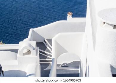 Schöne weiße Gebäude in Santorini Griechenland.