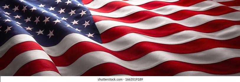 Amerikanische Flagge Welle Nahaufnahme für Memorial Day oder 4. Juli