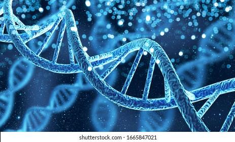 Spiralmolekülstruktur des DNA-Genhelix