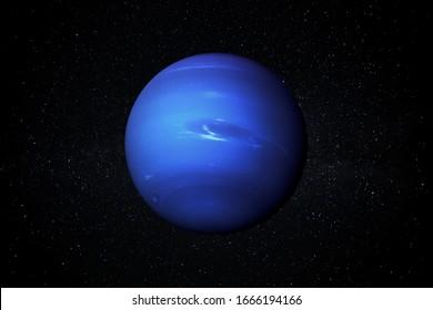 Planet Neptun im Sternenhimmel des Sonnensystems im Weltraum. Dieses Bild Elemente von der NASA eingerichtet.