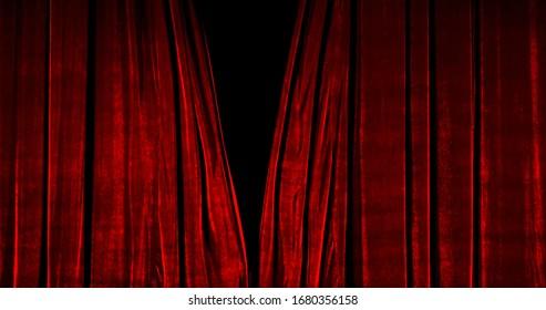Seidenvorhang aus echtem Samtstoff. Vorhang Für Theater, Oper, Show, Bühnenszenen. Echtes filmisches Vorhangfoto. Glitzerndes Tuch.