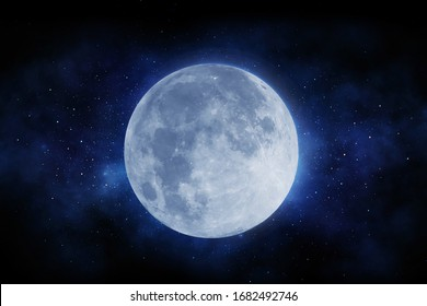 Der Mond und der Weltraum