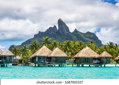 Bungalows sobre el agua en la Polinesia Francesa (Bora Bora y Moorea)