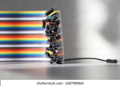 paquete de cables de puente arcoiris. cable macho paquete de cables de colores