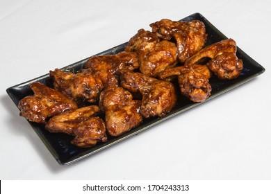 Alitas de pollo bbq Spanische Hühnerflügel in Sauce