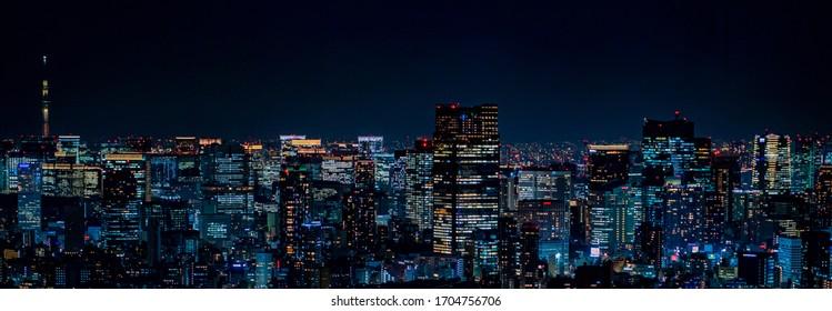 Nachtansicht von Tokio, Japan